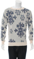 Baja East Patterned Pullover Sweater
