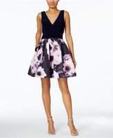 Xscape Evenings Floral-Print Fit & Flare Dress