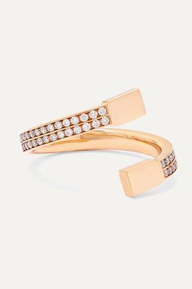 Repossi Serti Sur Vide 18-karat Rose Gold Diamond Ring