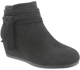 Pierre Dumas Black Tassel Sabri Wedge Ankle Boot - Girls