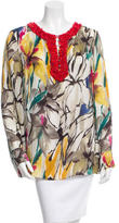 Magaschoni Silk Floral Tunic