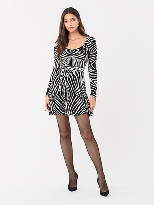 Diane von Furstenberg Hollis Swarovski-Embellished Jersey Mini Dress