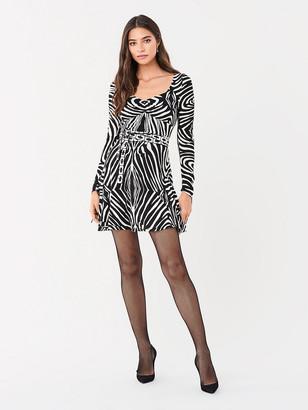 Diane von Furstenberg Hollis Swarovski-Embellished Jersey Mini Dress