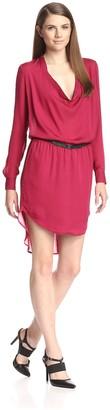 Haute Hippie Women's Cowl Neck Shirt Dress