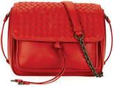 Bottega Veneta Medium Intrecciato Flap Tie-Front Shoulder Bag