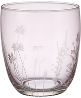 John Lewis Floral Cut Glass Tumbler, Pink Luster