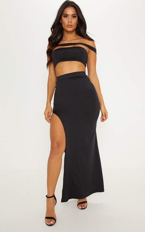 9f9d4edc08 PrettyLittleThing Black Long Skirts - ShopStyle UK