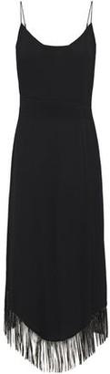 Just Cavalli Fringed Cady Midi Dress