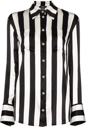 Balmain Striped Silk Shirt