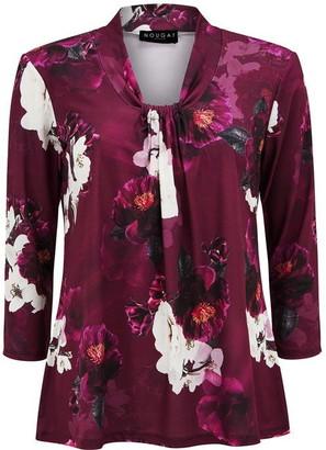 Nougat Victoria Floral Print Top