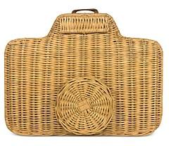 Serpui Marie Wicker Crossbody Camera Bag