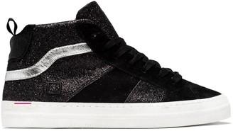 D.A.T.E D A T E High Top Sneakers Black Glitter - 40