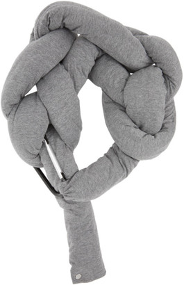 Bless Grey and Beige Bolster Scarf