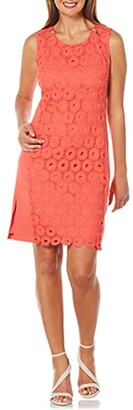 Rafaella Women's Circular Lace Ponte Dress