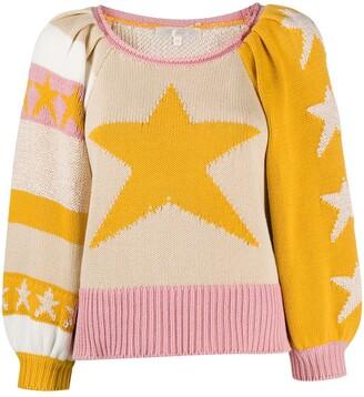 LoveShackFancy Ryland colour-blocked jumper
