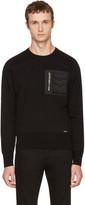 DSQUARED2 Black Utility Pocket Sweatshirt