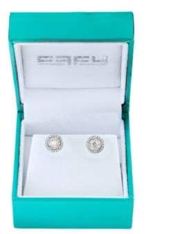 Effy Super Buy 14K White Gold and Diamonds Round Stud Earrings
