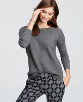 Ann Taylor Textured Cashmere Sweater