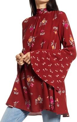 Free People Tate Floral Tunic Top