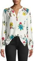 Joie Yaritza B Floral-Print Silk Georgette Top
