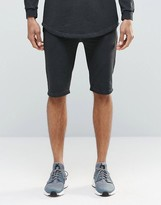 SikSilk Slouch Shorts In Over Dye