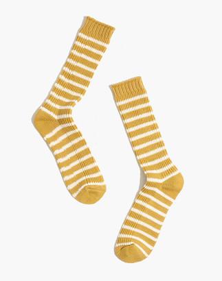 Madewell Striped Crew Socks