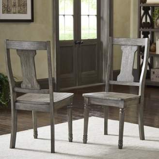 Weston Home Knudson Reclaimed Grey Finish Splat Dining Chair (Set of 2)