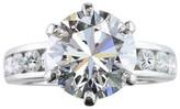 Tiffany & Co. Platinum 4.94 Ct Diamond Channel Set Engagement Ring Size 5.5