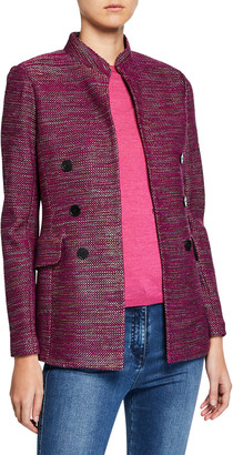 St. John Ombre Ribbon Tweed Knit Jacket