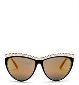 L.A.M.B. Women's Full Rim Studded Cat Eye Sunglasses