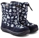 Naturino Navy Printed Snow Boots