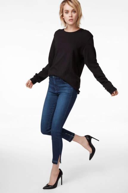 J Brand Alana High-Rise Cropped Super Skinny In Good Vibes
