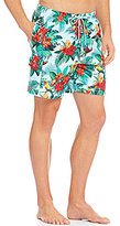 Tommy Bahama Naples Birds In Paradise Tropical Floral Print Twill Swim Trunks