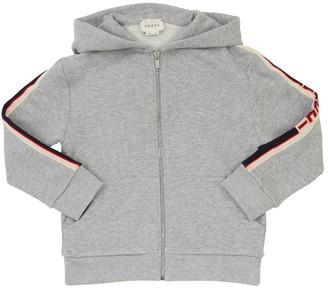 Gucci Zip-up Cotton Sweatshirt Hoodie