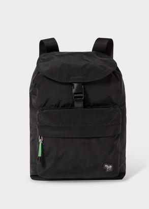 Paul Smith Men's Black 'Zebra' Logo Canvas Backpack
