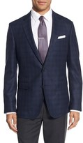 BOSS Men's Nobis Trim Fit Plaid Wool Sport Coat
