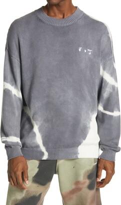 Off-White Tie Dye Logo Cotton Sweater