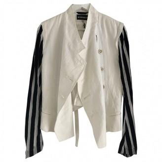Ann Demeulemeester White Linen Jackets