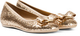 Salvatore Ferragamo Gold Glitter Varina Pumps