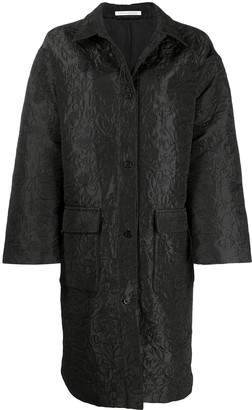 Cecilie Bahnsen Floral-Detail Single-Breasted Coat