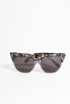 Erdem Tortoise and Glitter Cat-Eye Sunglasses