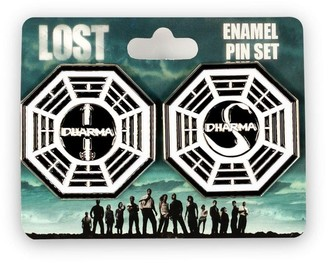 Overstock LOST Dharma Collectibles  LOST Dharma Initiative Station Enamel Collector Pin Set - Silver