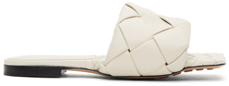 Bottega Veneta Off-White Intrecciato Lido Flat Sandals