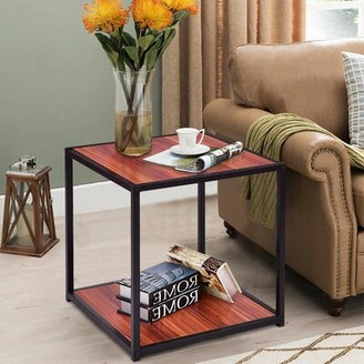Latitude Run Anniemae 4 Legs Coffee Table with Storage