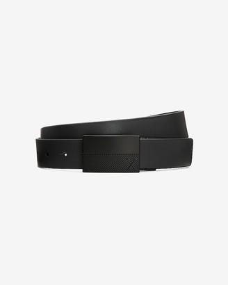 Express Reversible Vegan Leather Plaque Belt