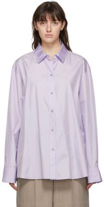 Nina Ricci Purple Silk Oversized Shirt