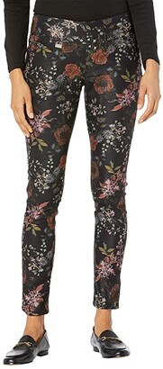 Lisette L Montreal Somerset Floral Slim Leg Pants (Black) Women's Casual Pants