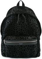 Saint Laurent 'City' backpack - men - Cotton/Calf Leather/Calf Hair - One Size