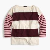 J.Crew Oversized combo stripe T-shirt