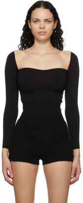 Dolce & Gabbana Black Sweetheart Top